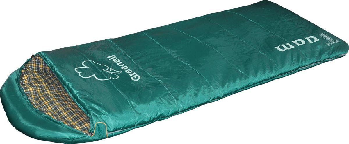 Мешок спальный Greenell Туам, правосторонняя молния, цвет: зеленый, 220 см х 90 см палатки greenell палатка дом 2