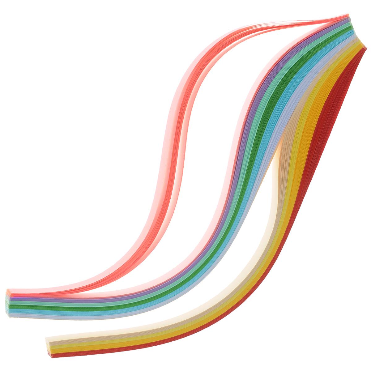 Набор бумаги для квиллинга АртНева, ширина 10 мм, 250 листов688919Бумага для квиллинга АртНева - это порезанные специальным образом полоски бумаги определенной плотности. Такая бумага пластична, не расслаивается, легко и равномерно закручивается в спираль, благодаря чему готовым спиралям легче придать форму. В наборе - 250 полосок бумаги десяти разных цветов.Квиллинг (бумагокручение) - техника изготовления плоских или объемных композиций из скрученных в спиральки длинных и узких полосок бумаги. Из бумажных спиралей создаются необычные цветы и красивые витиеватые узоры, которые в дальнейшем можно использовать для украшения открыток, альбомов, подарочных упаковок, рамок для фотографий и даже для создания оригинальных бижутерий. Это простой и очень красивый вид рукоделия, не требующий больших затрат. Количество цветов: 10.Ширина полоски бумаги: 10 мм.Длина полоски бумаги: 29,7 см.Плотность бумаги: 80 г/м2.