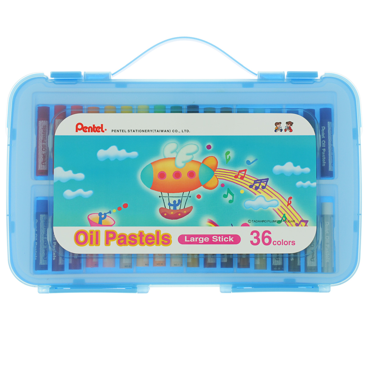 Пастель масляная Pentel Oil Pastels, в цветном боксе, 36 цветовGHTP36SПастель масляная Pentel Oil Pastels изготовлена из натуральных компонентов и не содержит вредных примесей. Соответствует европейскому стандарту качества EN71, утвержденному для детских товаров.Пастелью можно рисовать в любой технике (в сочетании с цветными карандашами, красками). При работе пастелью лучше использовать шероховатые поверхности - специальные бумаги, картон, холст. Пастель отличают яркие долговечные цвета, стойкие к воздействию света. Легко наносится на поверхность, образуя как яркие насыщенные цвета, так и легкие полутона и тени. Для удобства использования краски имеют форму мелков с увеличенным диаметром. Набор упакован в пластиковый бокс. Длина мелка: 6 см.Количество цветов: 36.