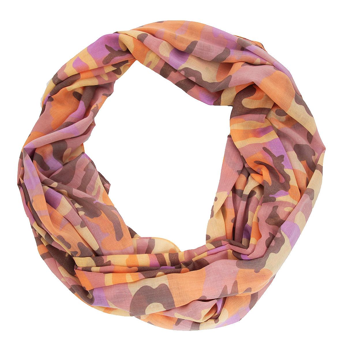 Палантин Venera, цвет: розовый, оранжевый. 3403341-2. Размер 70 см х 200