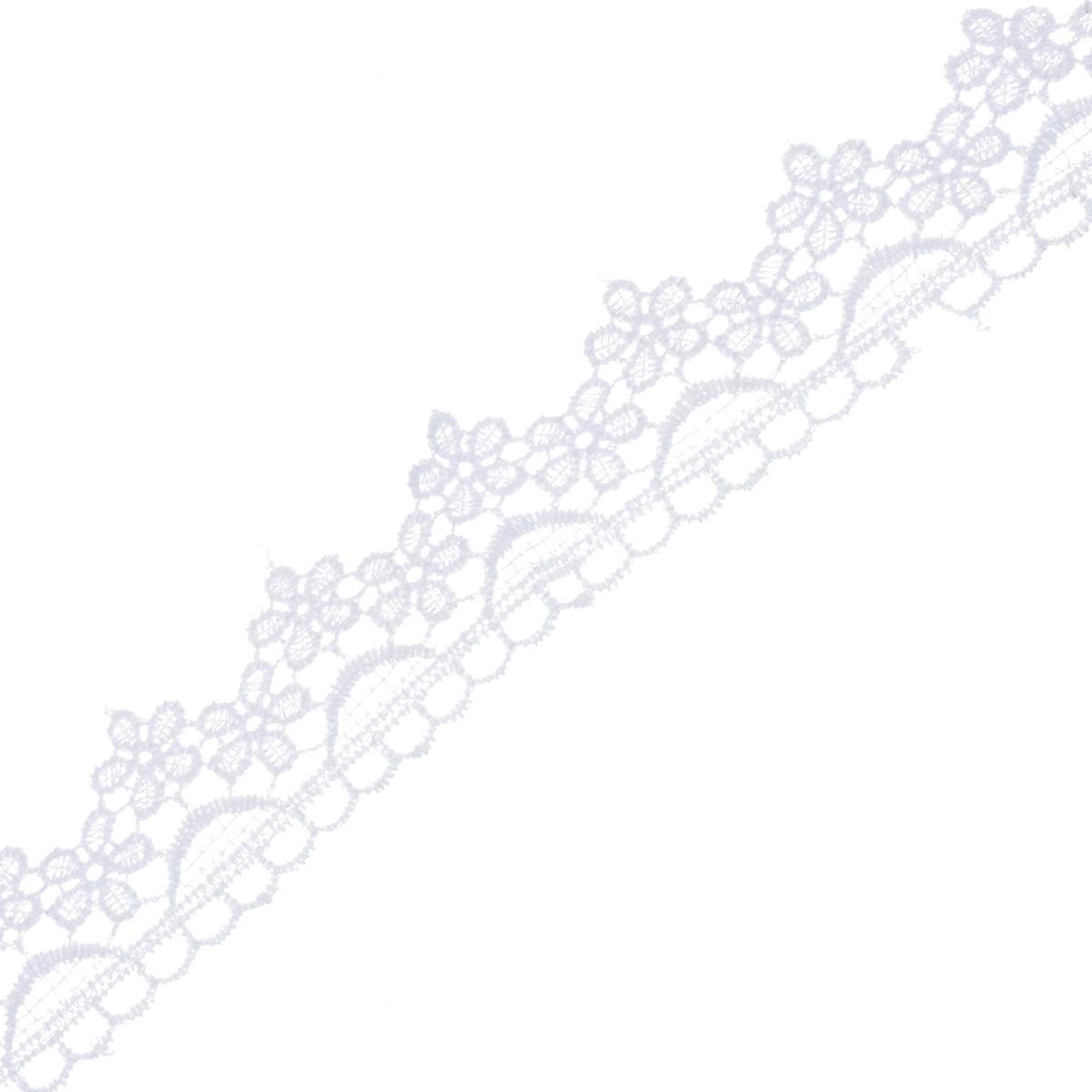 Кружево вязаное Астра, цвет: белый, ширина 3 см, длина 9 м. 77043827704382Кружево Астра, изготовленное из 35% хлопка и 65% полиэстера, предназначено для декорирования. Вязаное кружево часто применяется для завершения таких изделий, как шали, платки, кофточки, салфетки, скатерти, а также для изготовления воротников, манжет, различных отделок. Кружева широко применяются в оформлении интерьера: в виде декоративных панно, скатертей, занавесок, постельного белья (подушки, покрывала), салфеток и подстаканников. Ширина: 3 см.Длина: 9 м.