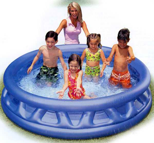 "Бассейн надувной INTEX ""Soft Side Pool""ребристый,серый 188х46 см."