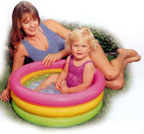 "Бассейн надувной INTEX ""Sunset Glow Baby Pool"" 86х25см (до 3-х лет)"