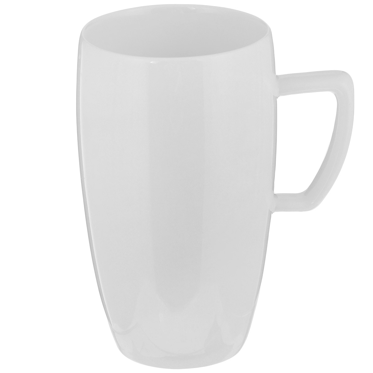 """Чашка Tescoma """"Crema"""" выполнена из высококачественного фарфора однотонного цвета и прекрасно подойдет для вашей кухни. Чашка изысканно украсит сервировку как обеденного, так и праздничного стола. Предназначена подачи кофе латте.  Пригодна для использования в микроволновой печи. Можно мыть в посудомоечной машине. Диаметр по верхнему краю: 8 см. Высота: 14 см. Объем: 500 мл."""