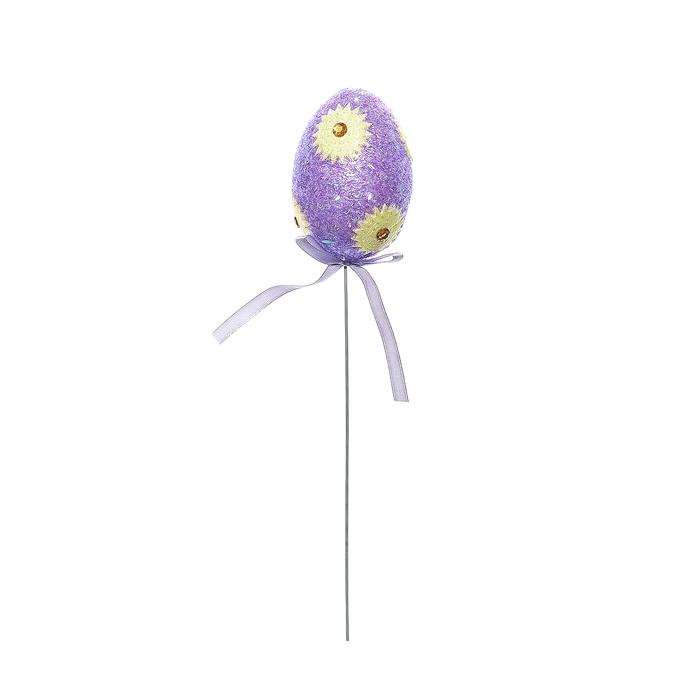 Набор пасхальных украшений на ножке Home Queen Цветочное, цвет: сиреневый, высота 25 см, 3 шт набор декоративных наклеек home queen пасхальный кролик 81 шт