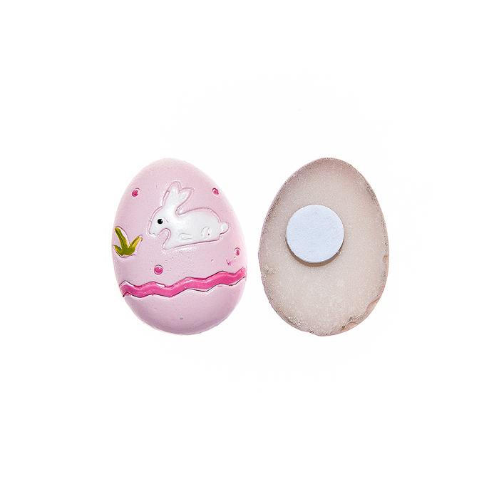 Набор декоративных украшений для яиц Home Queen Кролик с цветком, на клейкой основе, 8 шт набор декоративных наклеек home queen пасхальный кролик 81 шт