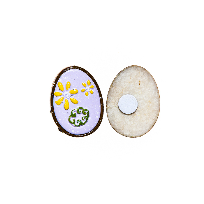 Набор декоративных украшений для яиц Home Queen Праздник, цвет: сиреневый, 6 шт64503Набор Home Queen Праздник состоит из шести декоративных элементов и предназначен для украшения яиц, посуды, стекла, керамики, металла, цветочных горшков, ваз и других предметов интерьера. Украшения изготовлены из высококачественной полирезины в виде яиц и фиксируются при помощи специальной клейкой основы. Такой набор украшений создаст атмосферу праздника в вашем доме. Размер фигурки: 3 см х 0,5 см х 2,2 см.