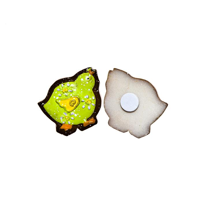 Набор декоративных украшений для яиц Home Queen Цыпленок, на клейкой основе, цвет: зеленый, 6 шт набор декоративных наклеек home queen пасхальный кролик 81 шт