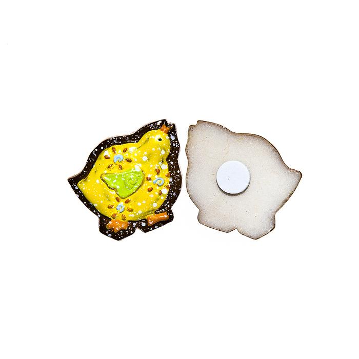 Набор декоративных украшений для яиц Home Queen Цыпленок, на клейкой основе, цвет: желтый, 6 шт