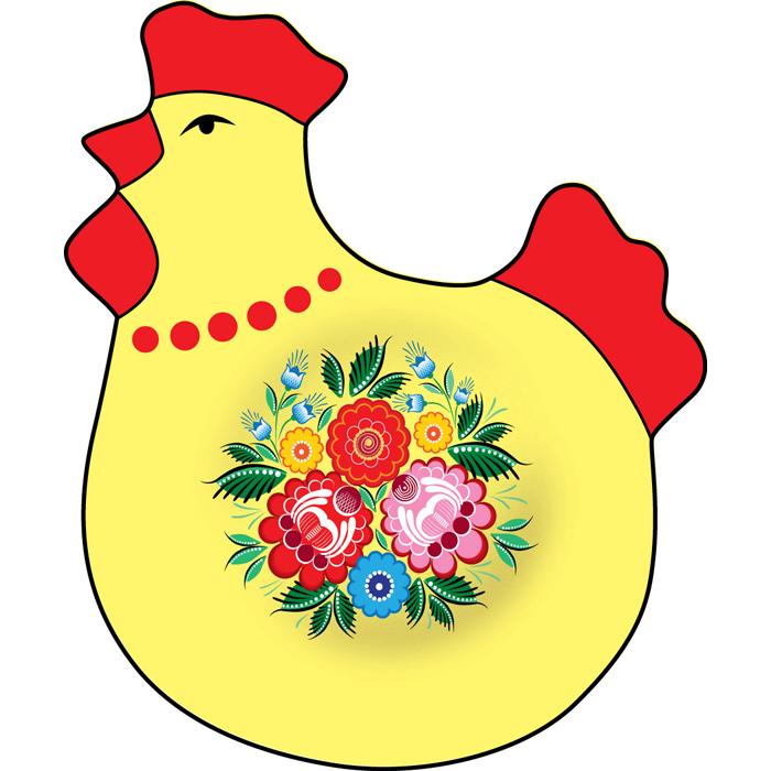 Подставка под яйцо Home Queen Узоры, цвет: желтый, красный мочалка из нейлона home queen цвет желтый 57199