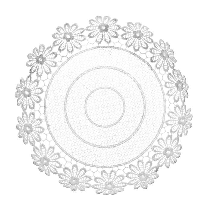 Тарелка декоративная Home Queen Ромашки, цвет: белый, диаметр 28,5 см64292Тарелка Home Queen Ромашки предназначена для украшения интерьера и сервировки стола. Изделие выполнено из полиэстера с красивым плетением по краям в виде цветочных узоров, имеет жесткую форму. Такая оригинальная тарелка станет ярким украшением стола. Идеальный вариант для хранения пасхальных яиц, хлеба или конфет.Диаметр тарелки: 28,5 см.Высота тарелки: 5 см.