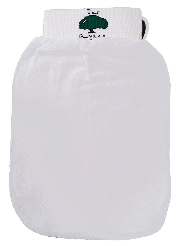 Дом Арганы Рукавица Кесса, цвет: белый70223/11Рукавица Кесса используется в традиционной процедуре марокканского хаммама в качестве гомажа (пилинга). Благодаря уникальной текстуре рукавица способствуют скатыванию отмершего эпителия, удалению загрязнений и улучшению микроциркуляции кожи. Также подходит для использования в бане и ванной.