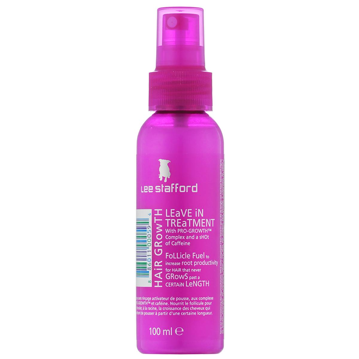 Lee Stafford Сыворотка для роста волос Hair Growth, 100 мл768865200224 Lee Stafford HairGrowthLeaveInTreatment,сывороткадляроставолос, 100мл. Сыворотка улучшает рост волос, воздействуя на циркуляцию крови, делает волосы более прочными, уменьшает их потерю, увеличивает объем и уменьшает раздражение кожи головы от воздействия продуктов стайлинга.