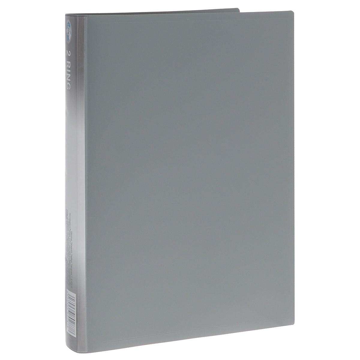 Папка Centrum на кольцах, цвет: серый. Формат А4 centrum папка уголок lily формат а4 цвет сиреневый