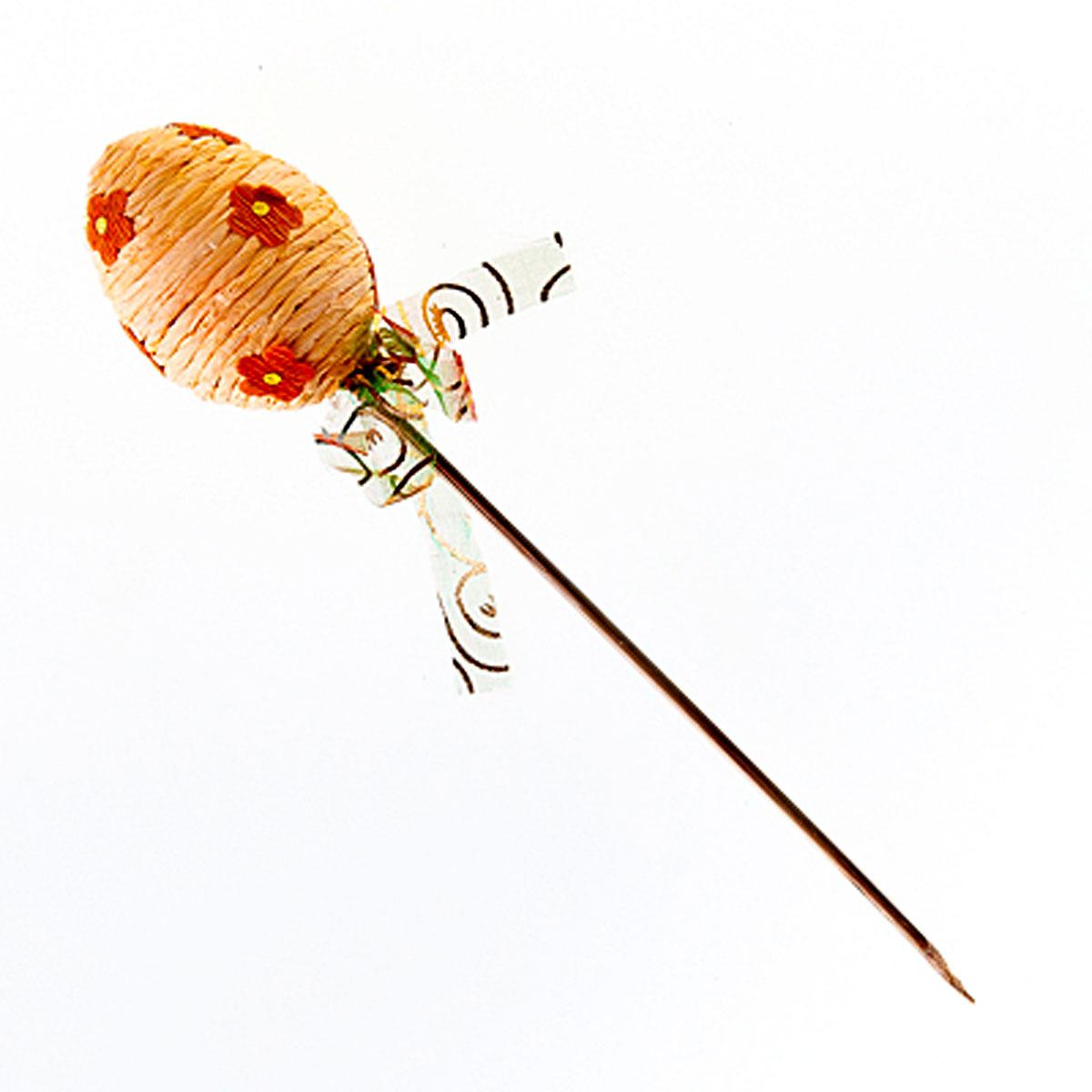 Декоративное украшение на ножке Home Queen Яйцо веселое, цвет: персиковый, высота 21 см60743_3Декоративное украшение Home Queen Яйцо веселое выполнено из пенопласта и бумаги в виде пасхального яйца на деревянной ножке, декорированного рельефными бумажными цветами. Изделие украшено полупрозрачной лентой. Такое украшение прекрасно дополнит подарок для друзей или близких на Пасху. Высота: 21 см. Размер яйца: 5 см х 5 см.