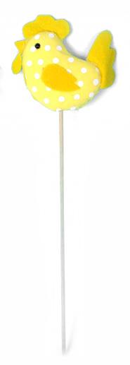 Декоративное пасхальное украшение на ножке Home Queen Петушок, цвет: желтый, высота 25 см. 60734_360734_3Украшение пасхальное Home Queen Петушок изготовлено из пенопласта и полиэстера и предназначено для украшения праздничного стола. Украшение выполнено в виде петушка, декорированного принтом в горох, на деревянной шпажке. Такое украшение прекрасно дополнит подарок для друзей и близких на Пасху. Высота: 25 см.Размер декоративной фигурки: 8 см х 7 см х 2 см.