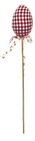 Декоративное пасхальное украшение на ножке Home Queen Яйцо с лентой, цвет: красный, высота 26 см. 64174_2
