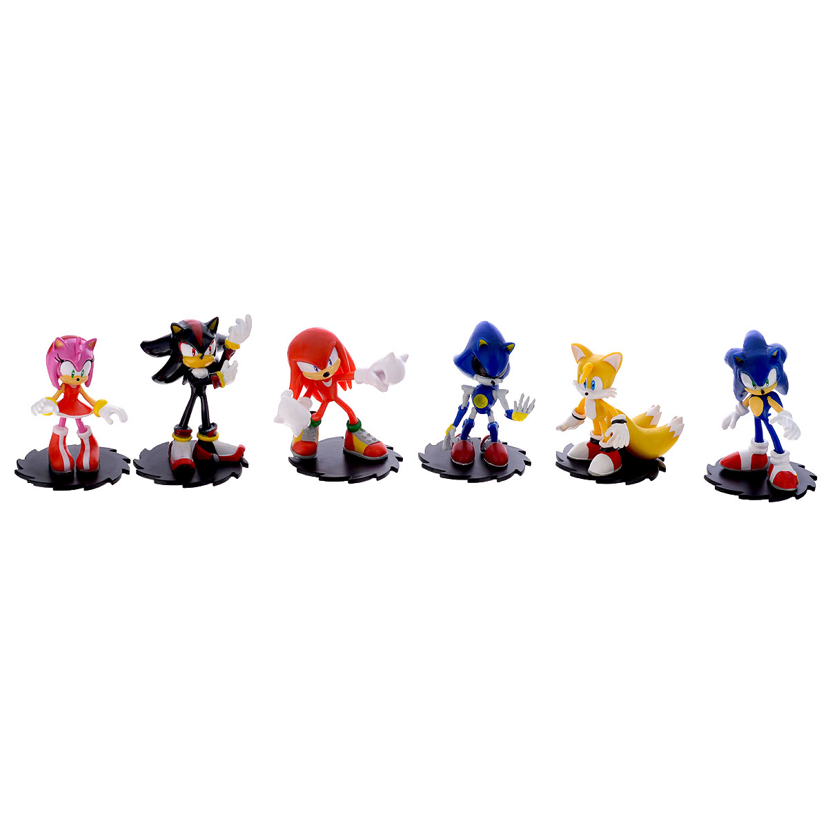 Набор фигурок Sonic Modern Collector's Set, 6 шт free shipping 3inch 7cm sega sonic the hedgehog figure toy pvc toy sonic characters figure toys brinquedos doll 6pcs set