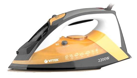 Vitek VT-1208(Y) утюгVT-1208(Y)Глажение белья превратится в настоящее удовольствие, если у вас есть утюг VT-1208! Его стильный дизайн подчеркивается сочетанием фиолетового и серого оттенков, эргономикой корпуса и удобным расположением элементов управления. Такой утюг быстро справится с любыми складками, и при этом не важно, с каким типом ткани вы работаете. Особенно удобна функция вертикального отпаривания. Ведь благодаря мощному паровому удару данный утюг вполне может заменить стандартный бытовой отпариватель. Большой объем резервуара воды позволит вам насладиться процессом глажения вещей паром без отрыва от работы