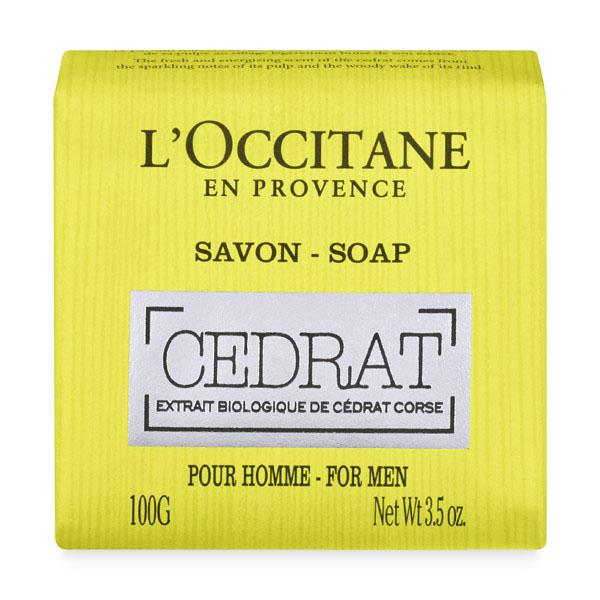 LOccitane Мыло Cedrat 100 г332054Натуральное мягкое мыло квадратной формы очищает и ароматизирует кожу.