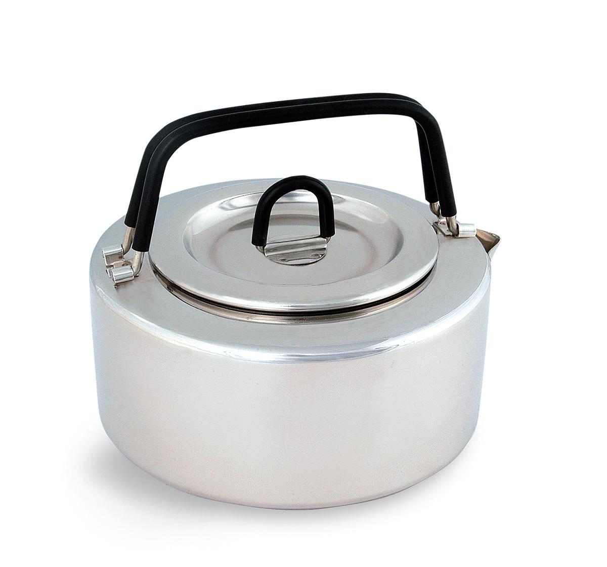 Чайник походный Tatonka Teapot, 1 л4017.000Чайник Tatonka Teapot из нержавеющей стали с термоизолированными ручками и компактным дизайном. Замечательно подходит для использования дома и на выезде. В комплекте ситечко из нержавеющей стали.Преимущества и особенности:Высококачественная нержавеющая сталь.Складные термоизолированные ручки.Крышка со складной термоизолированной ручкой.Компактный дизайн.Ситечко из нержавеющей стали.Диаметр чайника: 14,5 см.Высота чайника: 7 см.