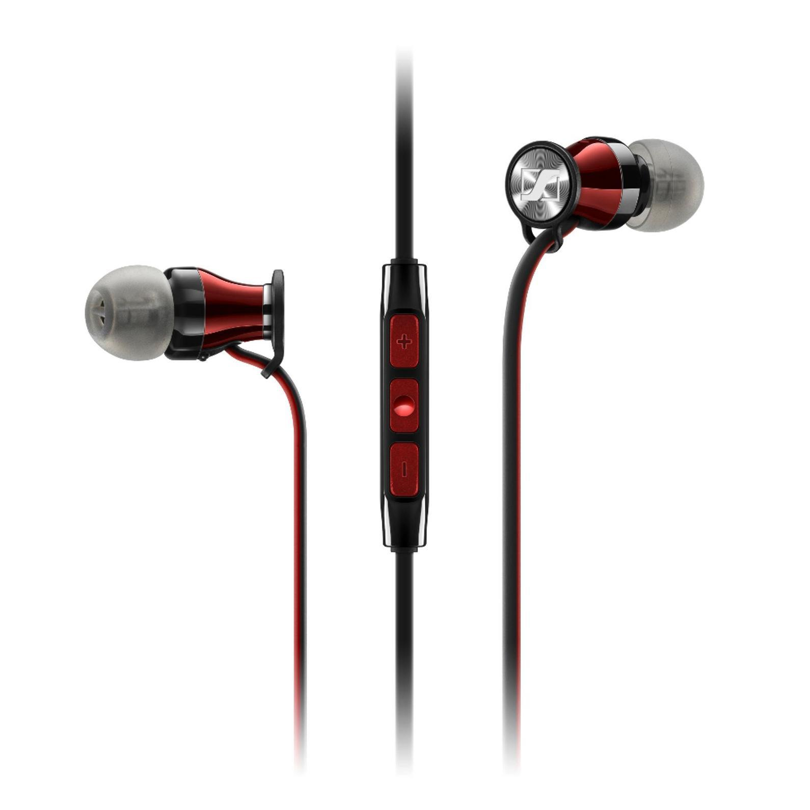 Sennheiser Momentum In-Ear M2 IEi наушники506231Новый член семейства MOMENTUM – внутриканальные MOMENTUM In-Ear сохраняют единство стиля, объединяя роскошный внешний вид с превосходным звучаниемMOMENTUM In-Ear продвигают концепцию наушников на новый уровень. Сочетание элегантного вида, эргономичного дизайна и инновационной акустической инженерии обеспечивает невероятно богатое и сбалансированное звучаниеВ истинно миниатюрных наушниках MOMENTUM In-Ear заключен не только бескомпромиссный звук, поражает и количество технологичных деталей – от прецизионных воздуховодов из нержавеющей стали до 3-кнопочного многофункционального пульта управления с микрофономДизайн наушников MOMENTUM In-Ear изыскан и лаконичен. Более 200 контрастных красных стежков украшают черную молнию на чехле для защиты Ваших наушников. Красно-черный кабель выходит из глянцевых красных корпусов. Со знанием дела спроектированы и ушные адаптеры для индивидуальной подгонки, с помощью которых наушники сидят как влитыеВы даже можете забыть о наушниках MOMENTUM In-Ear. Их адаптивная конструкция с регулируемым углом в 15° позволяет комфортно подогнать их к любым ушам. Благодаря сверхмалым акустическим каналам и набору их 4 пар ушных адаптеров Вы будете получать безупречный звук