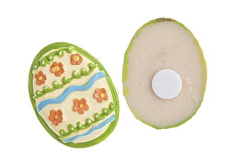 """Набор Home Queen """"Весенний"""" состоит из шести декоративных элементов и предназначен для украшения яиц, посуды, стекла, керамики, металла, цветочных горшков, ваз и других предметов интерьера. Украшения изготовлены из высококачественной полирезины в виде яиц и фиксируются при помощи специальной клейкой основы.  Такой набор украшений создаст атмосферу праздника в вашем доме.  Размер фигурки: 3 см х 0,5 см х 2,2 см."""
