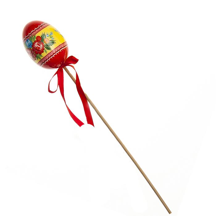 Декоративное украшение на ножке Home Queen Цветочные узоры, цвет: красный, высота 26 см66755_2Декоративное украшение Home Queen Цветочные узоры выполнено из пластика в виде пасхального яйца на деревянной ножке, декорированного цветочным рисунком. Изделие украшено текстильной лентой.Такое украшение прекрасно дополнит подарок для друзей или близких на Пасху.Высота: 26 см. Размер яйца: 5,5 см х 4 см.