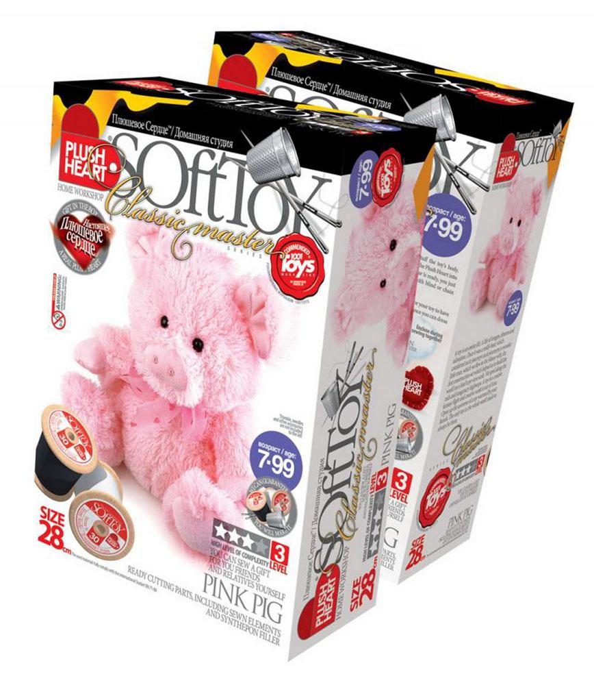 """Набор для создания мягкой игрушки """"Розовая свинка"""", SoftToy"""