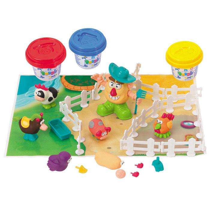 Playgo Набор для лепки Fermer & FriendsPlay 8654Набор для лепки Playgo Fermer & Friends представляет собой сочетание моделирования и игры. Набор включает в себя: 3 баночки массы для лепки по 56 г (красный, желтый, синий), набор для создания забора, набор пластиковых частей и аксессуаров для создания игрушек, игровая фоновая сцена. Входящая в набор пластилиновая масса разработана специально для детей, очень мягкая, приятно пахнет, ее не надо разминать перед лепкой.Пластилин быстро высыхает, не имеет запаха, не липнет к рукам и одежде, легко смывается, а так же легко смешивается, что позволяет получать новые цвета. На крышечках баночек имеются трафареты с помощью которых ваш ребенок сможет легко самостоятельно сделать фигурку. Набор пластиковых частей и аксессуаров для создания игрушек, набор для создания забора и игровая фоновая сцена помогут создать и оживить фигурки.Работа с пластилином развивает мелкую моторику пальцев малыша, пространственное воображение, фантазию.