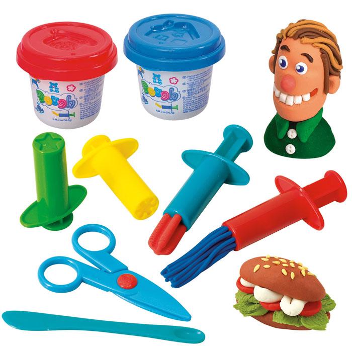 Playgo Набор для лепки Dough ShootersPlay 8634Набор для лепки Playgo Dough Shooters представляет собой сочетание моделирования и игры. Набор включает в себя: 2 баночки массы для лепки по 56 г (синий, красный), стек для моделирования, 4 шприца для выдавливания и ножницы. Входящая в набор пластилиновая масса разработана специально для детей, очень мягкая, приятно пахнет, ее не надо разминать перед лепкой.Пластилин быстро высыхает, не имеет запаха, не липнет к рукам и одежде, легко смывается, а так же легко смешивается, что позволяет получать новые цвета. На крышечках баночек имеются трафареты с помощью которых ваш ребенок сможет легко самостоятельно сделать фигурку. Ножницы и стек выполнены из пластика и не имеют острых концов, что безопасно для вашего малыша. С их помощью он сможет легко и быстро разрезать массу. Фигурные шприцы для выдавливания помогут вашему малышу легко создать детали различной формы. При помощи этого набора ваш ребенок сможет своими руками изготовить красивые фигурки.Работа с пластилином развивает мелкую моторику пальцев малыша, пространственное воображение, фантазию.