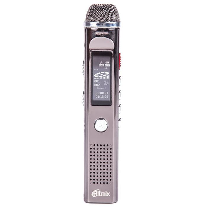 Ritmix RR-150 8Gb диктофон15117961Ritmix RR-150 - это компактный цифровой диктофон в стильном корпусе. Рекордер обладает функцией музыкального плеера и имеет встроенный FM-приемник, что позволяет слушать и записывать радиопередачи.Модель не только отличается улучшенным качеством записи благодаря большому встроенному высокочувствительному микрофону, но и поддерживает разные типы записи: PCM - высококачественная запись (битрейт 1536 кбит/сек), NR - подавление нежелательных шумов (битрейт 384 кбит/сек), HQ - стандартная запись (битрейт 128 кбит/сек). Также осуществляется прямое кодирование записей в MP3.