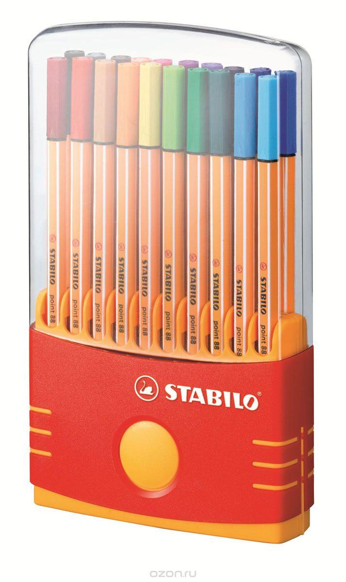 Набор капиллярных ручек Stabilo  Point 88 , 20 шт -  Ручки