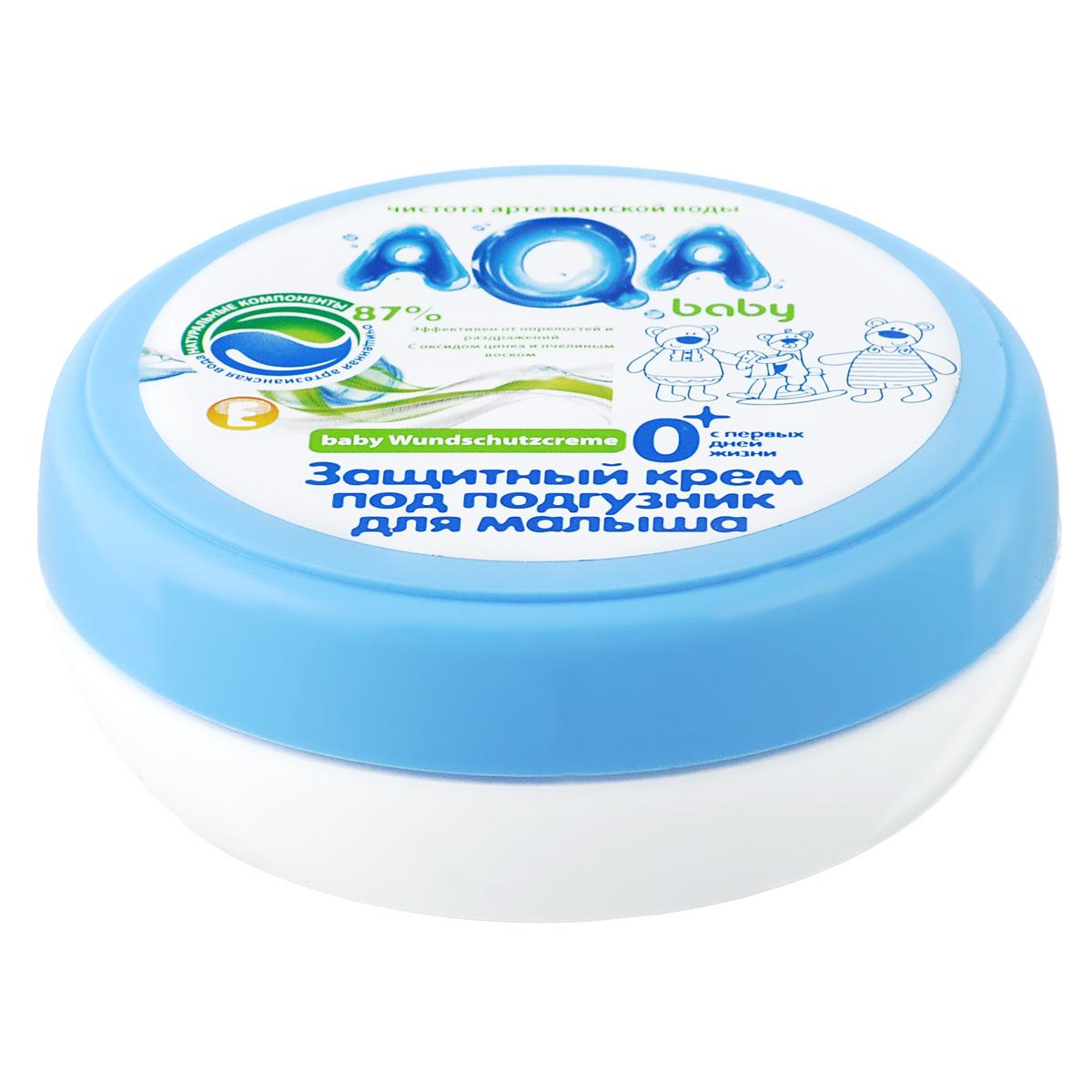 AQA baby Защитный крем под подгузник для малыша2012101Эффективно предотвращает появление опрелостей на нежных участках кожи, защищает от раздражений благодаря оксиду цинка и натуральному пчелиному воску. При появлении покраснений быстро успокаивает и способствует регенерации кожи. Масло подсолнечника и витамин Е смягчают и увлажняют кожу. Используется с рождения.