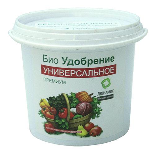 Био удобрение универсальное Дюнамис Премиум, 1 л0411-сУниверсальное био удобрение Дюнамис Премиум - экологически чистый и безопасный продукт. Полезные вещества приведены в хелатную форму. Обладает нейтральным запахом. Свойства: - увеличение урожайности на 53%,- повышение сопротивляемости заболеваниям, - улучшение приживаемости рассады и черенков, - обильное и длительное цветение, повышение силы растений, - улучшение вкусовых и качественных показателей плодов, - эффективная помощь при дефиците питания и влаги. С 2002 г. применяется в России, странах Европы, Азии и Ближнего Востока. С 2010 г. в розничной продаже! Выбор профессионалов теперь доступен каждому!Состав: ферментированный навоз КРС, помет, биокатализатор.