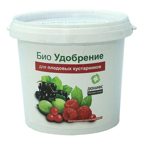 Био-удобрение Дюнамис для плодовых кустарников, 1 л0415-сБио-удобрение Дюнамис для плодовых кустарников способствует увеличению урожайности до 37% и улучшению качества и вкуса ягод. Благодаря такому удобрению, у кустарников повышается сопротивляемость к заболеваниям, также это эффективная помощь при дефиците питания и влаги. Варианты применения:- в лунку при посадке;- в качестве корневой подкормки.После внесения удобрения - полив.Состав: ферментированный навоз КРС, помет, биокатализатор.Объем: 1 л.Товар сертифицирован.
