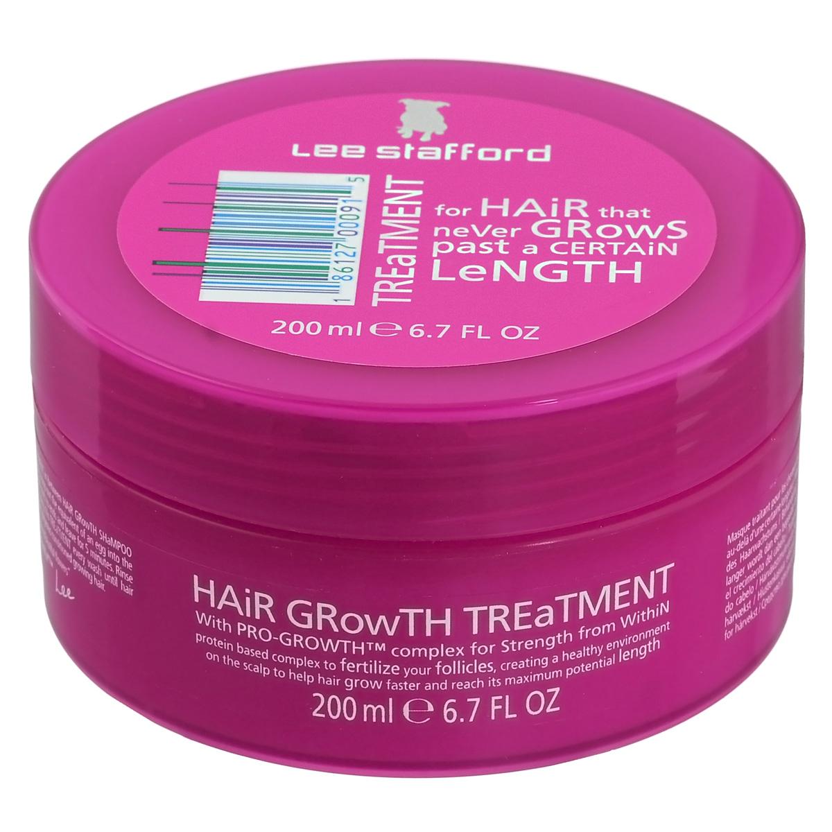 Lee Stafford Маска для роста волос Hair Growth, 200 мл647223200217 Lee Stafford Маска для роста волос Hair Growth Treatment, 200 мл. Бережно ухаживает за волосами. Помогает сделать расчесывание волос более легким, придает волосам природный блеск и ухоженный вид