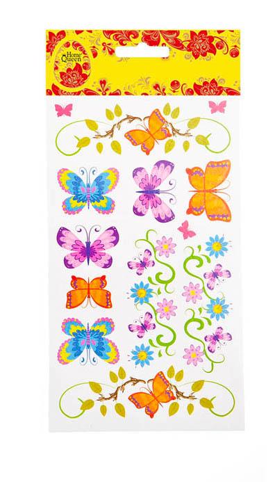 Набор переводных наклеек для яиц Home Queen Флора и фауна. Бабочки, 13 шт
