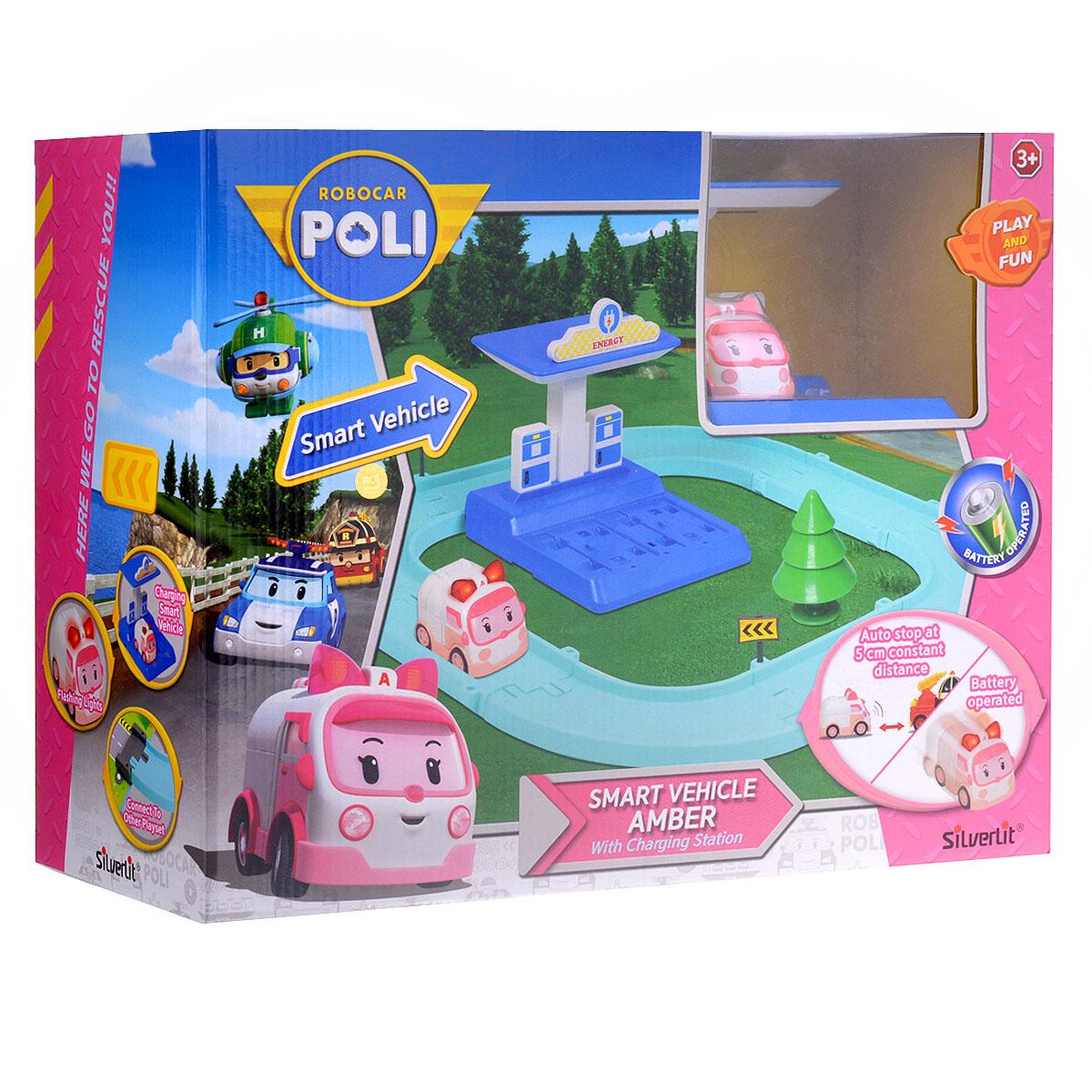 Robocar Poli Игрушечный трек Умная машинка Эмбер игровой набор silverlit robocar poli маленький трек с умной машинкой поли 83270