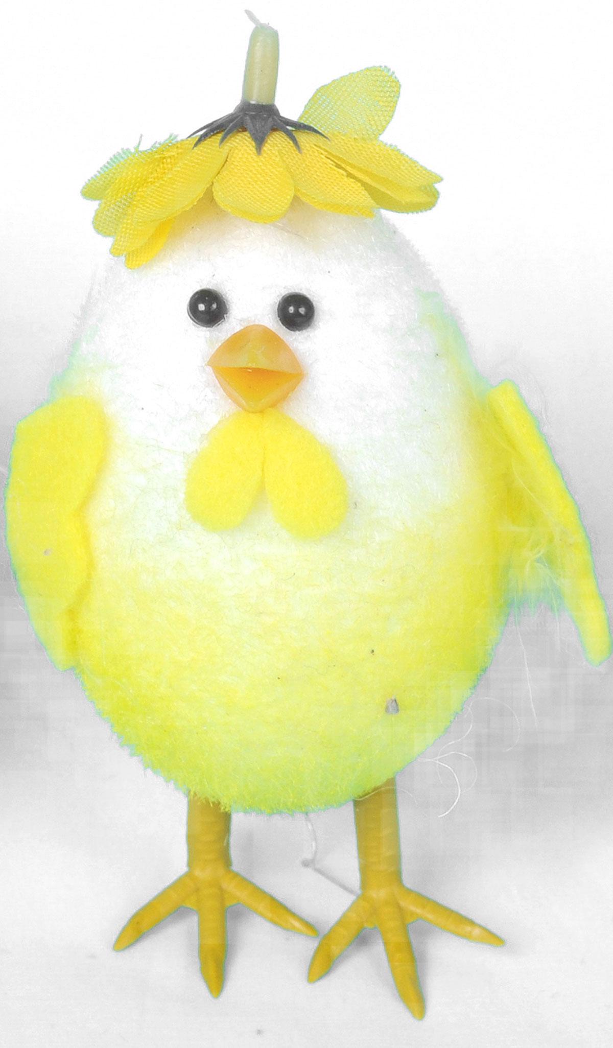 Декоративное украшение Home Queen Приветливый цыпленок, цвет: желтый, 8 х 11 см мочалка из нейлона home queen цвет желтый 57199