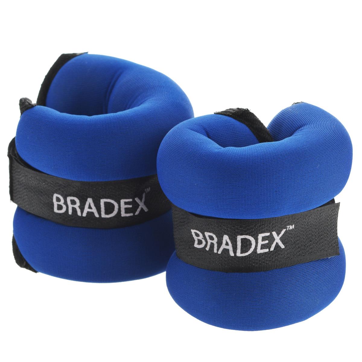 Утяжелители Bradex, 2х0,5 кгSF 0014Утяжелители Bradex придадут мышцам дополнительную нагрузку, превышающую обычный уровень их напряжения во время упражнений. Вы можете надевать их, занимаясьходьбой, бегом, гимнастикой. Эти утяжелители прочно и комфортно крепятся на запястьях и лодыжках, обеспечивая серьезную нагрузку, совершенно не сковывая движения.Таким образом, тренировке придается аэробный эффект, в умеренных количествах благотворно влияющий на состояние сердца. Используя утяжелители, вы повысите результативность упражнений, быстрее избавитесь от лишнего веса, подготовите тело к усложненной программе тренировок.Утяжелители фиксируются благодаря липучкам.Характеристики:Материал: ПВХ, нейлон. Наполнитель: металлические шарики. Размер утяжелителя (без фиксаторов): 20 см х 9 см х 3 см.Вес: 2 х 0,5 кг. Размер упаковки: 16 см х 8,5 см х 6,5 см. Производитель: Китай. Артикул: SF0014.