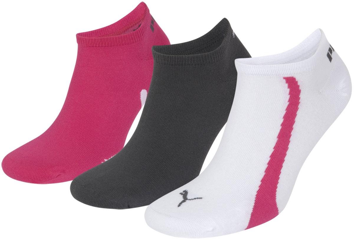 Носки унисекс Puma Lifestyle Sneakers, цвет: белый, темно-серый, фуксия, 3 пары. 88641202. Размер 39/42 кошельки puma кошелёк rbr lifestyle wallet