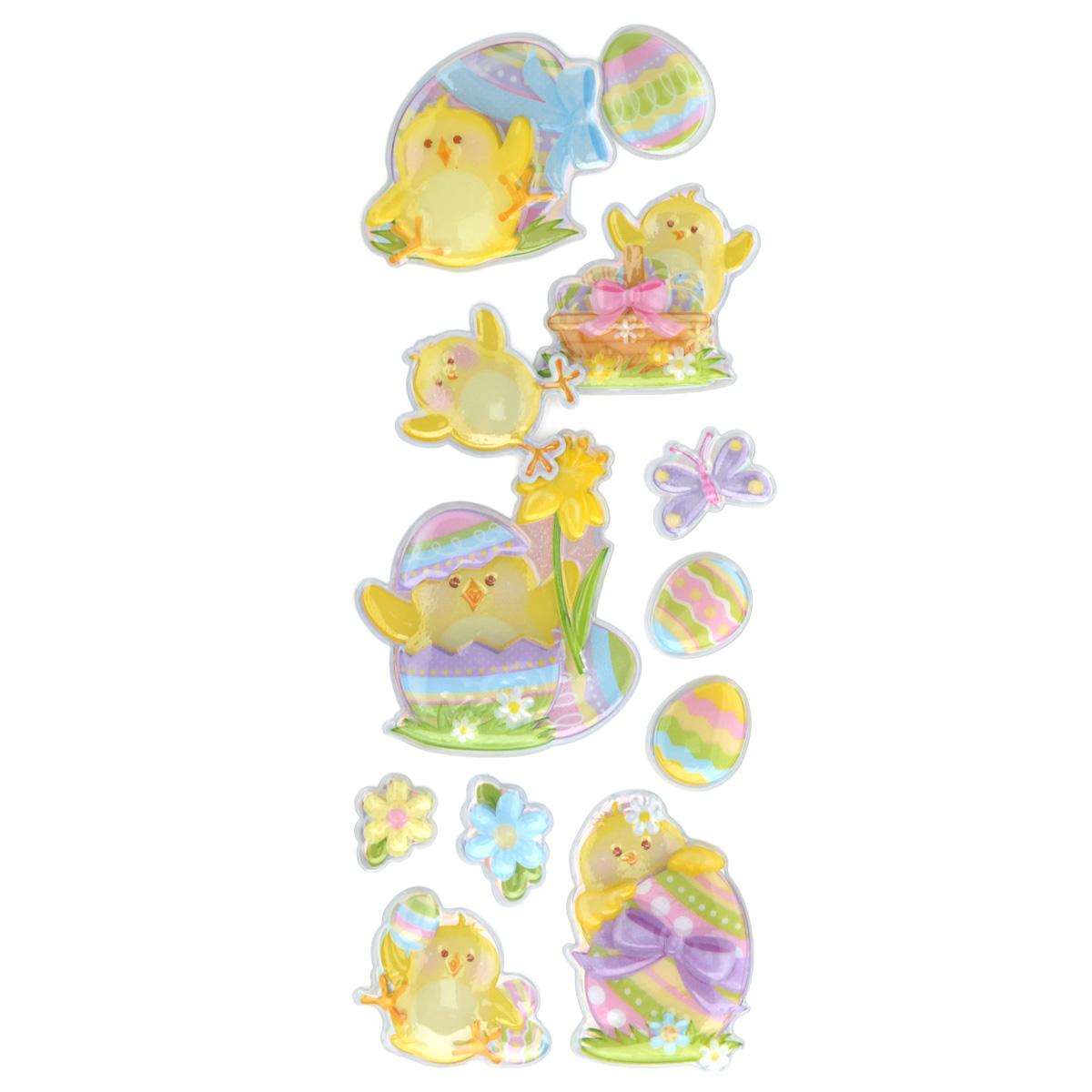 Набор объемных наклеек Home Queen Цыпленок с нарциссом, 12 шт60882_3Набор объемных наклеек Home Queen Цыпленок с нарциссом прекрасно подойдет для оформления творческих работ. Их можно использовать для скрапбукинга, украшения упаковок, подарков и конвертов, открыток, декорирования коллажей, фотографий, изделий ручной работы и предметов интерьера. Объемные наклейки выполнены из ПВХ. Задняя сторона клейкая. В наборе - 12 объемных наклеек, выполненных в виде цыпленка, пасхальных яиц и цветов. Такой набор украшений создаст атмосферу праздника в вашем доме. Комплектация: 12 шт.Средний размер наклейки: 4,5 см х 4,5 см.