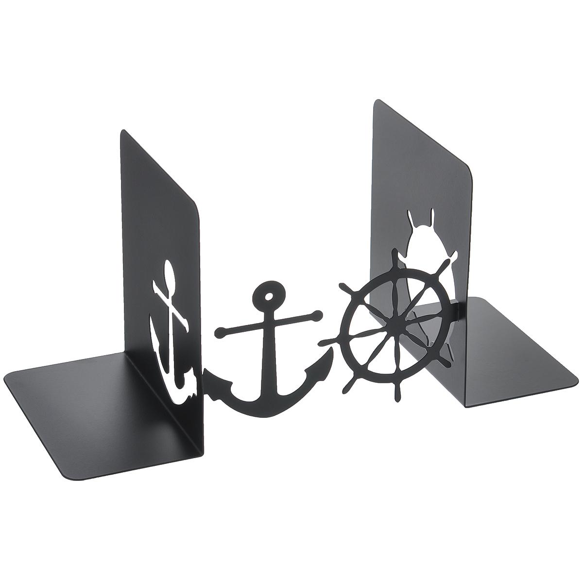 Подставка-ограничитель для книг Штурвал и якорь, 2 шт подставка ограничитель для книг купола