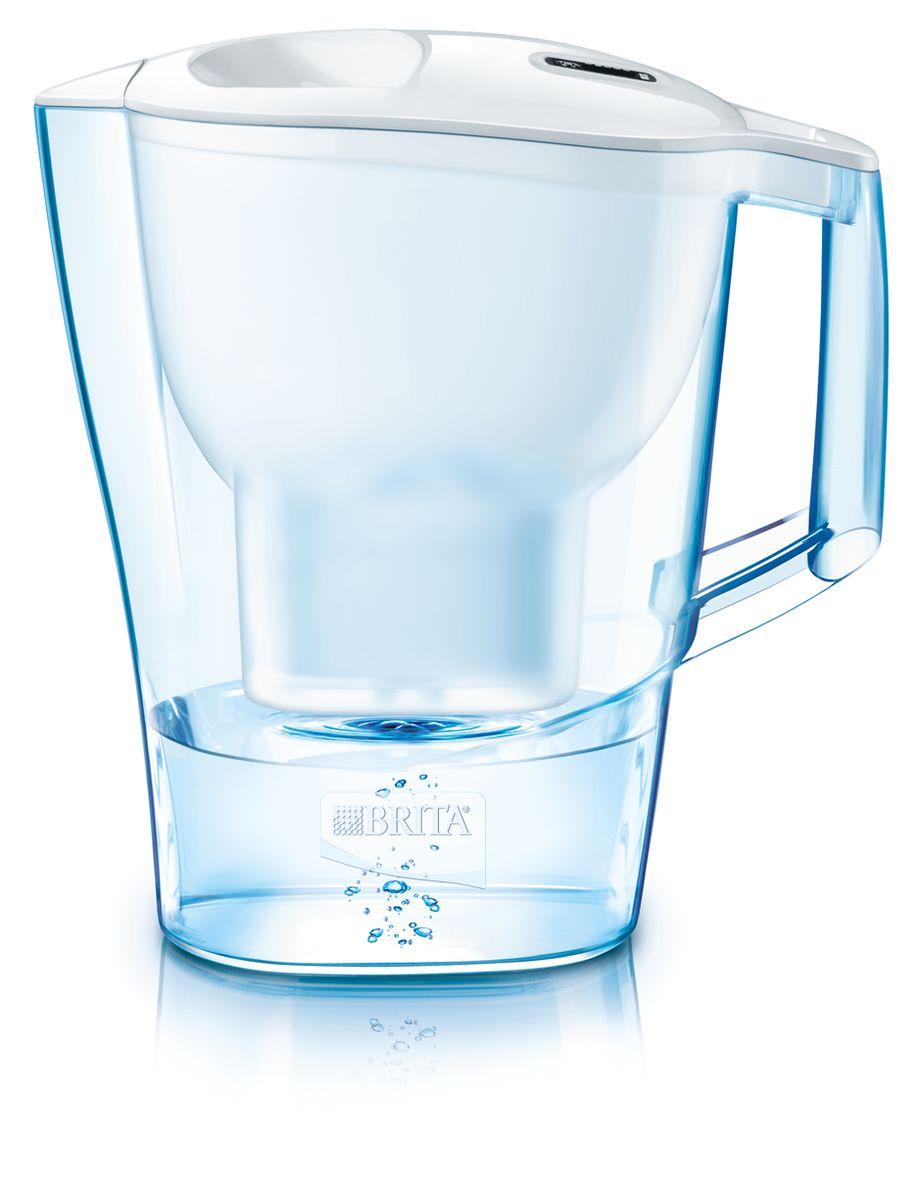Фильтр-кувшин для воды Brita Aluna XL, цвет: белый, 3,5 л1008943Фильтр-кувшин Brita Aluna XL, выполненный из пластика, станет необходимым помощником на вашей кухне. Вода, очищенная данным фильтром обладает рядом преимуществ:- улучшает вкус горячих и холодных напитков, - увеличивает срок службы бытовых приборов, препятствуя образованию накипи, - идеальна для приготовления вкусной и здоровой пищи, - придает более насыщенный вкус и аромат чаю и кофе. Технология картриджа Maxtra снижает содержание в воде таких веществ, как хлор, алюминий, тяжелые металлы (свинец и медь), некоторые пестициды и органические примеси. Также он отфильтровывает соли жесткости.Особенности данного фильтра: - только для Maxtra, - благодаря удобной функции (одним нажатием кнопки) заменить картридж очень просто, - календарь: механический индикатор ресурса кассеты будет автоматически напоминать вам о необходимости заменить кассету через каждые 4 недели использования, - эргономичный дизайн, - фильтр можно мыть в посудомоечной машине (за исключением крышки).Фильтры Brita имеют уникальную систему очистки, которая помогает смягчить питьевую воду. Они предлагают идеальную возможность улучшить качество питьевой воды дома. Фильтры Brita снижают образование известкового налета. Инновации компании Brita подтверждаются значительным количеством патентов, в том числе и на международном уровне.Успех компании обуславливается постоянным расширением продуктовой линейки. Общий объем фильтра: 3,5 л.Полезный объем: 2 л.