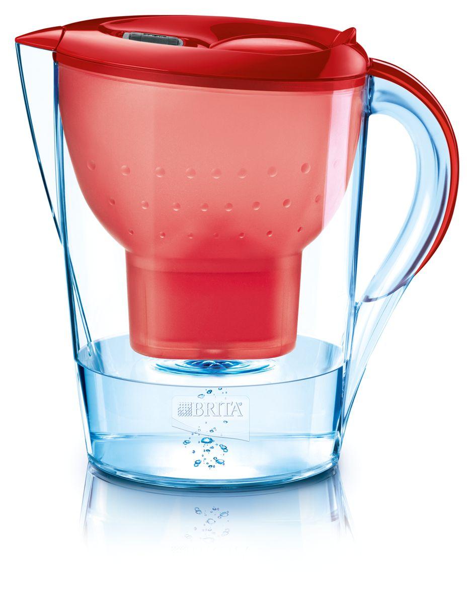Фильтр-кувшин для воды Brita Marella XL, цвет: красный, 3,5 л102068Фильтр-кувшин Brita Marella XL, выполненный из пластика, станет необходимым помощником на вашей кухне. Вода, очищенная данным фильтром обладает рядом преимуществ:- улучшает вкус горячих и холодных напитков, - увеличивает срок службы бытовых приборов, препятствуя образованию накипи, - идеальна для приготовления вкусной и здоровой пищи, - придает более насыщенный вкус и аромат чаю и кофе. Технология картриджа Maxtra снижает содержание в воде таких веществ, как хлор, алюминий, тяжелые металлы (свинец и медь), некоторые пестициды и органические примеси. Также он отфильтровывает соли жесткости.Особенности данного фильтра: - только для Maxtra, - благодаря удобной функции (одним нажатием кнопки) заменить картридж очень просто, - откидная крышка в отверстии для заливки воды, - календарь: механический индикатор ресурса кассеты будет автоматически напоминать вам о необходимости заменить кассету через каждые 4 недели использования, - эргономичный дизайн, - фильтр можно мыть в посудомоечной машине (за исключением крышки).Фильтры Brita имеют уникальную систему очистки, которая помогает смягчить питьевую воду. Они предлагают идеальную возможность улучшить качество питьевой воды дома. Фильтры Brita снижают образование известкового налета. Инновации компании Brita подтверждаются значительным количеством патентов, в том числе и на международном уровне.Успех компании обуславливается постоянным расширением продуктовой линейки. Общий объем фильтра: 3,5 л.Полезный объем: 2 л.