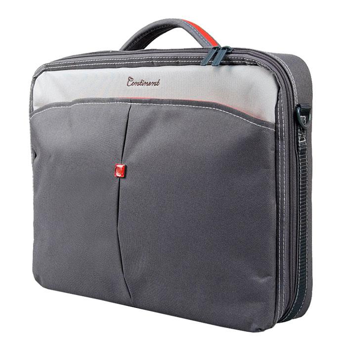 "Continent CC-02, Graphite сумка для ноутбука 15,6"""