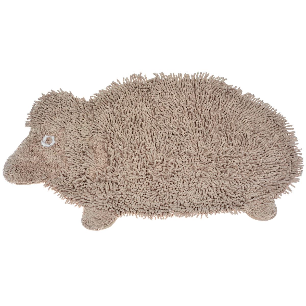 Коврик Arloni Овечка Долли, цвет: бежевый, 50 см х 80 см1209Коврик Arloni Овечка Долли изготовлен из экологически чистого материала - натурального хлопка. Выполнен в виде забавной овечки. Коврик мягкий и приятный на ощупь, имеет мягкий длинный ворс. Отличается высокой износоустойчивостью, хорошо впитывает влагу, не теряет своих свойств после многократных стирок. Коврик Arloni гармонично впишется в интерьер вашего дома и создаст атмосферу уюта и комфорта. Идеальный вариант для ванной или детской комнаты. Изделие отличается высоким качеством пошива и стильным дизайном, а материал прекрасно переносит большое количество стирок. Легко стирается в стиральной машине или вручную.