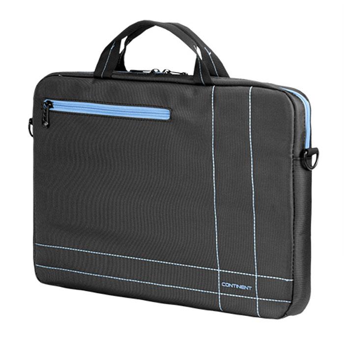 Continent CC-201, Grey Blue сумка для ноутбука 15,6CC-201 GBContinent CC-201 - эргономичная сумка для ноутбука. Помимо ноутбука с диагональю экрана 15 дюймов, в ней может поместиться множество необходимых вещей: журналы, аксессуары, документы, и канцелярские принадлежности. Сумка оснащена плечевым ремнем, поэтому ее удобно носить не только в руке, но и на плече.