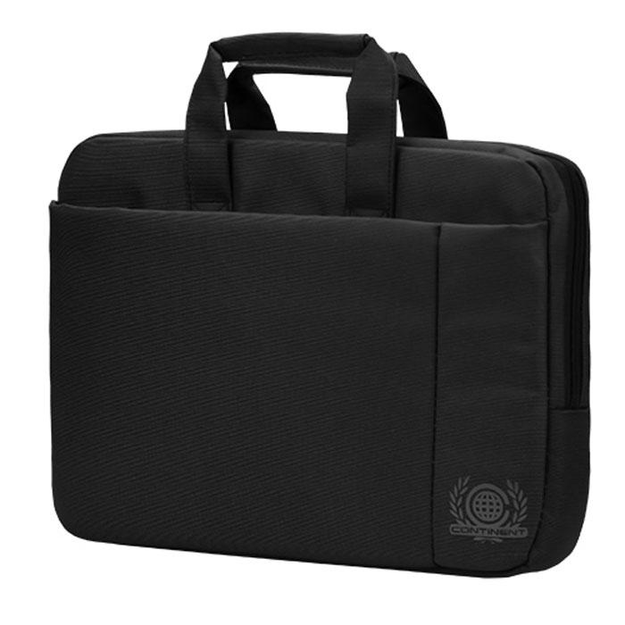 Continent CC-215, Black сумка для ноутбука 15,6CC-215 BKContinent CC-215 - эргономичная сумка для ноутбука. Помимо ноутбука с диагональю экрана 15 дюймов, в ней может поместиться множество необходимых вещей: журналы, аксессуары, документы, и канцелярские принадлежности. Сумка оснащена плечевым ремнем, поэтому ее удобно носить не только в руке, но и на плече.